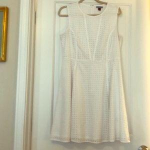 Lined eyelet dress.